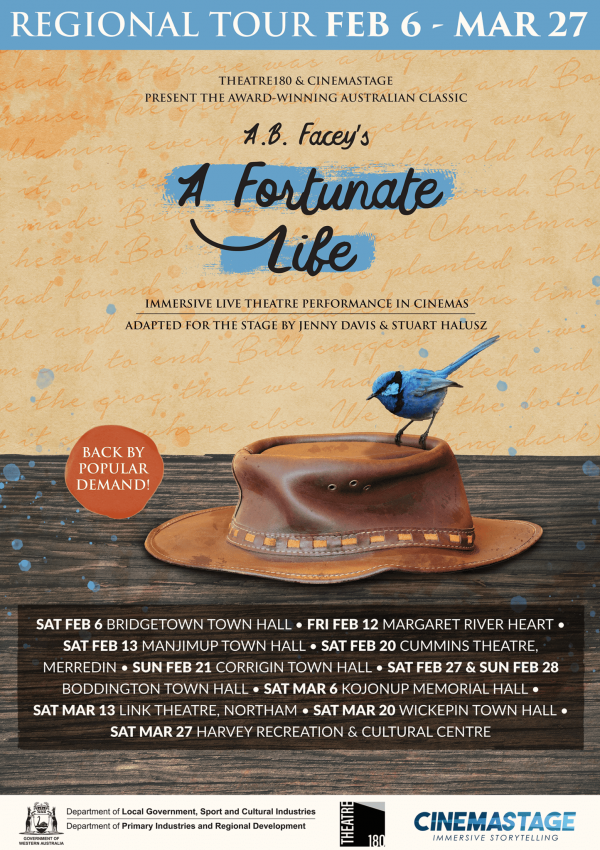 A Fortunate Life Poster A5 - Regional Tour ONLINE